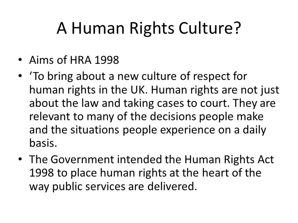 A Human Rights Culture.