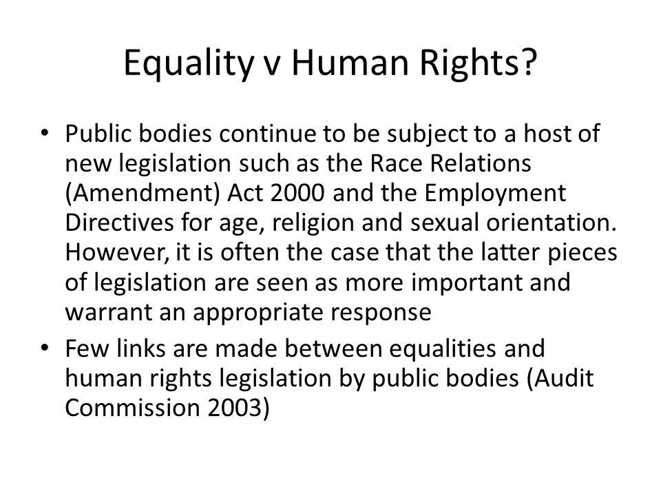 Equality v Human Rights.