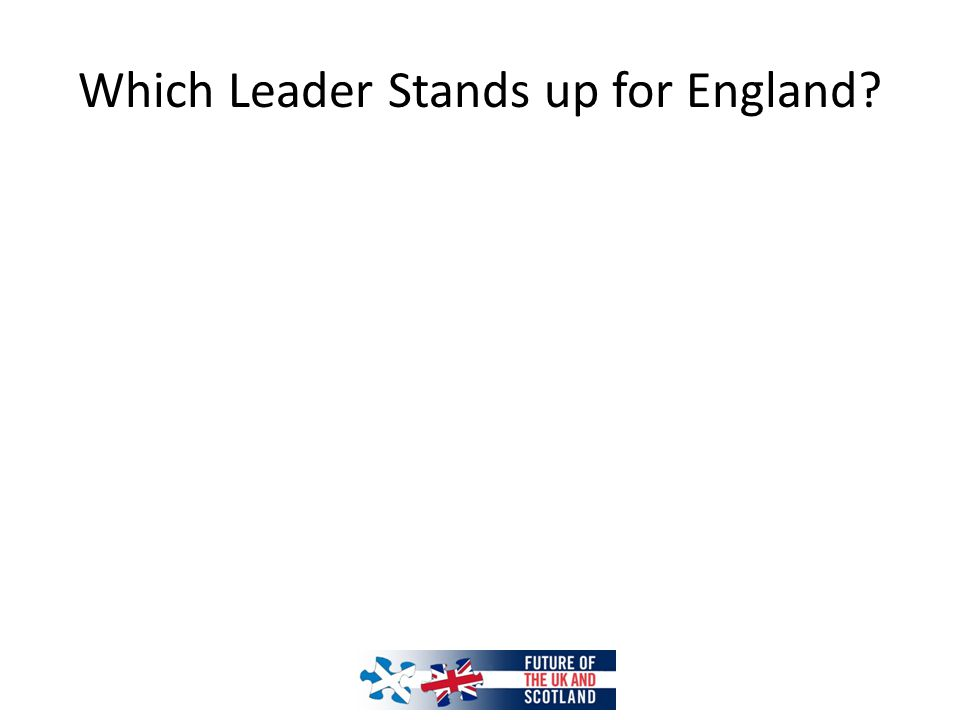 Which Leader Stands up for England?