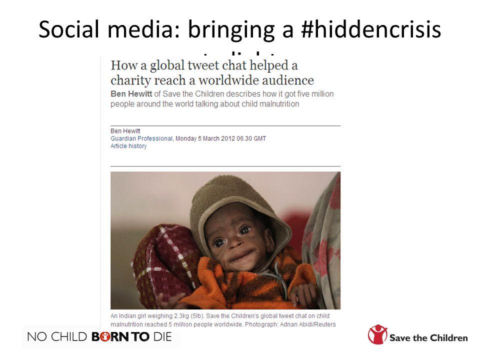 Social media: bringing a #hiddencrisis to light
