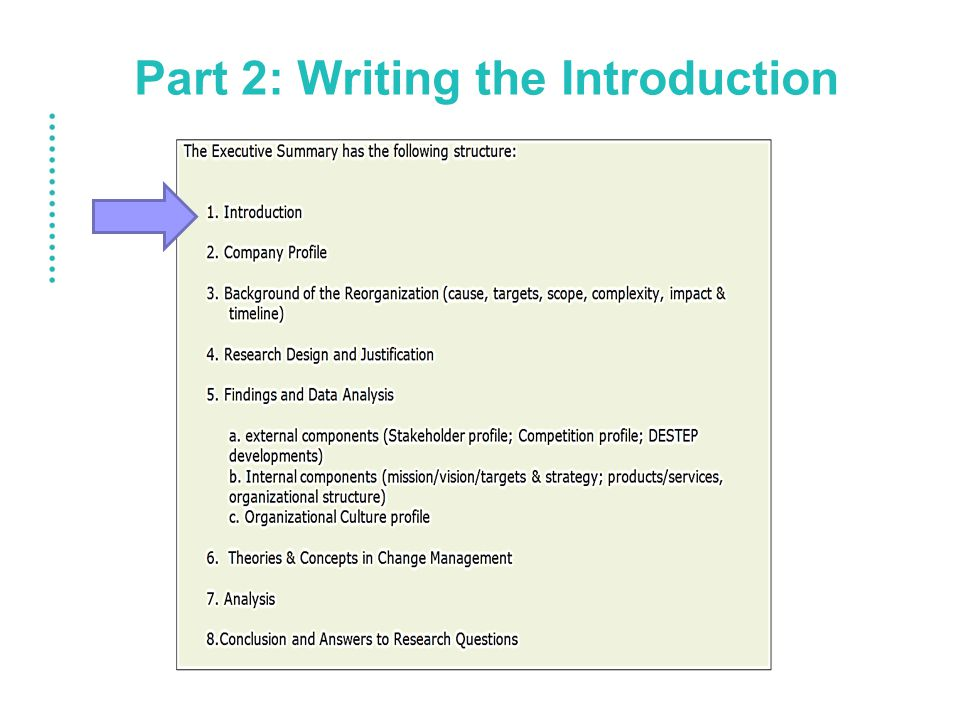 Part 2: Writing the Introduction
