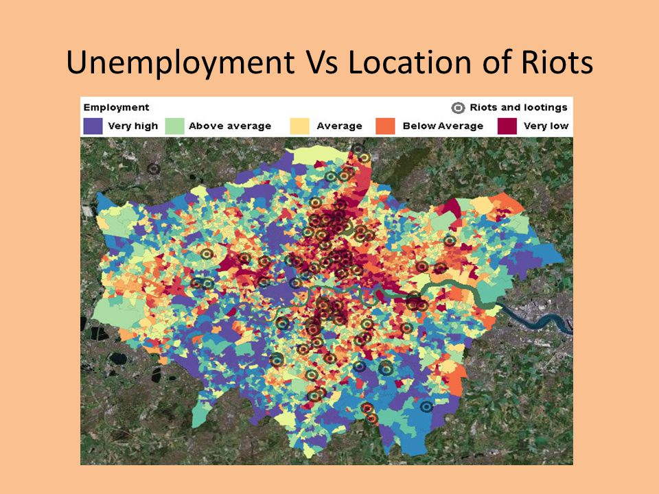 Unemployment Vs Location of Riots