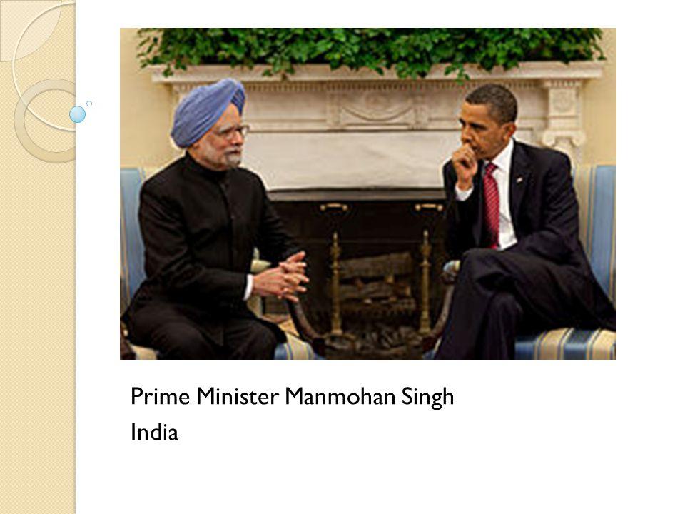 Prime Minister Manmohan Singh India