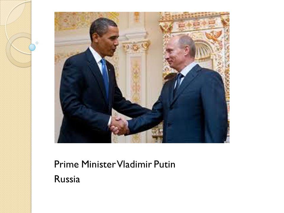 Prime Minister Vladimir Putin Russia