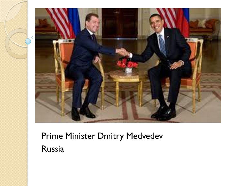 Prime Minister Dmitry Medvedev Russia