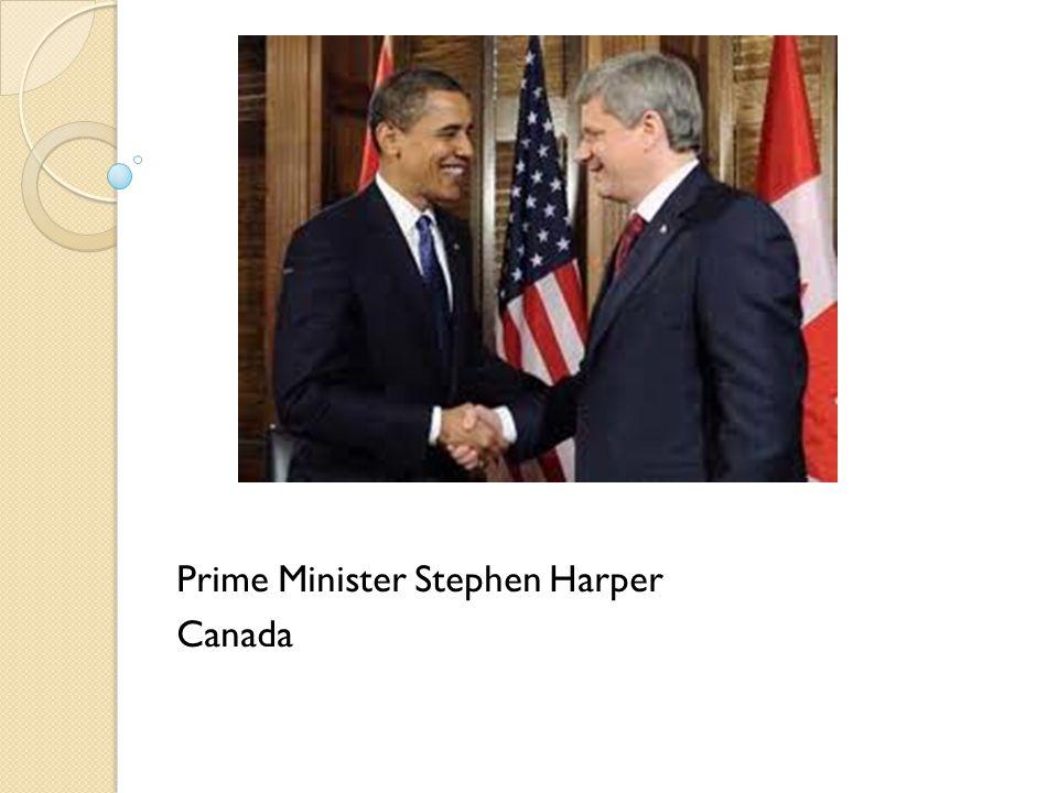 Prime Minister Stephen Harper Canada
