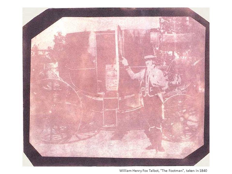 William Henry Fox Talbot, The Footman , taken in 1840