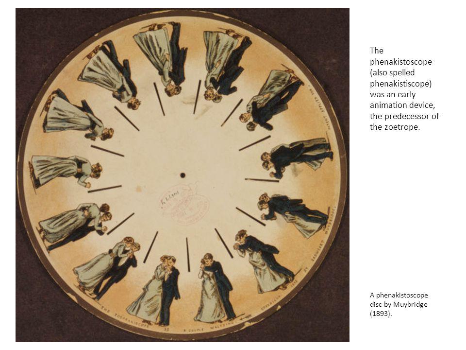 A phenakistoscope disc by Muybridge (1893).