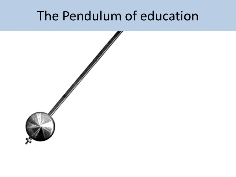 The Pendulum of education