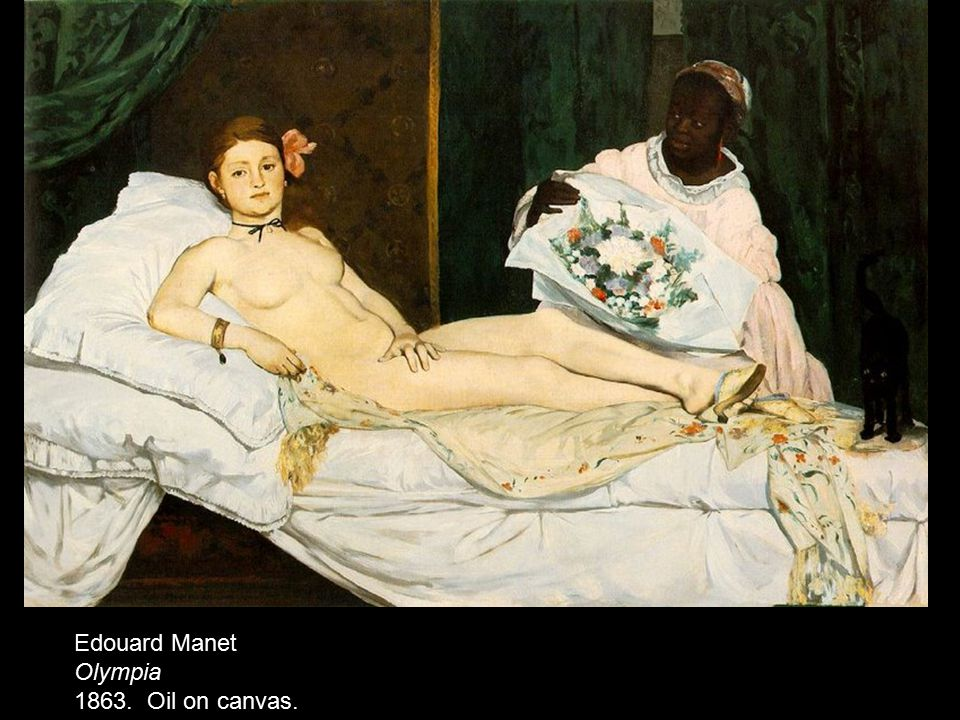 Edouard Manet Olympia 1863. Oil on canvas.
