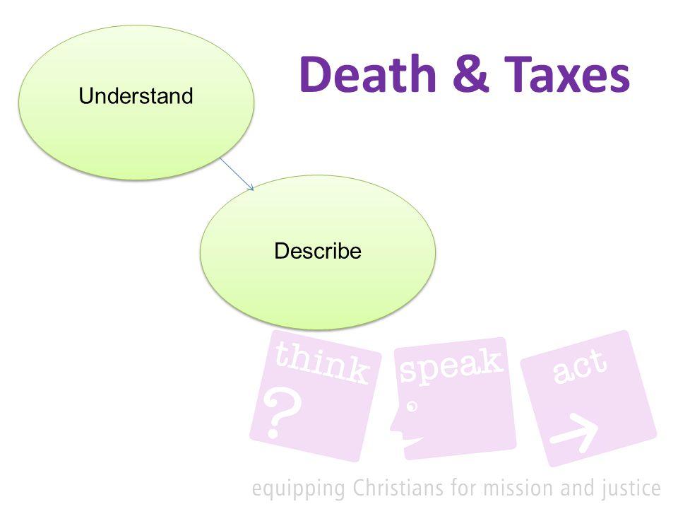 Death & Taxes Understand Describe