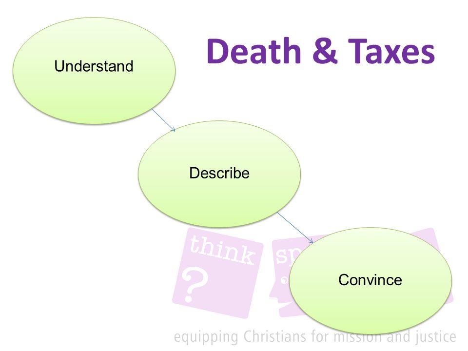 Death & Taxes Understand Describe Convince