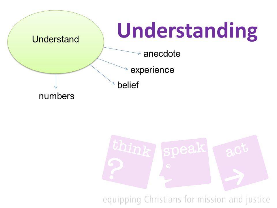 Understanding Understand anecdote experience numbers belief