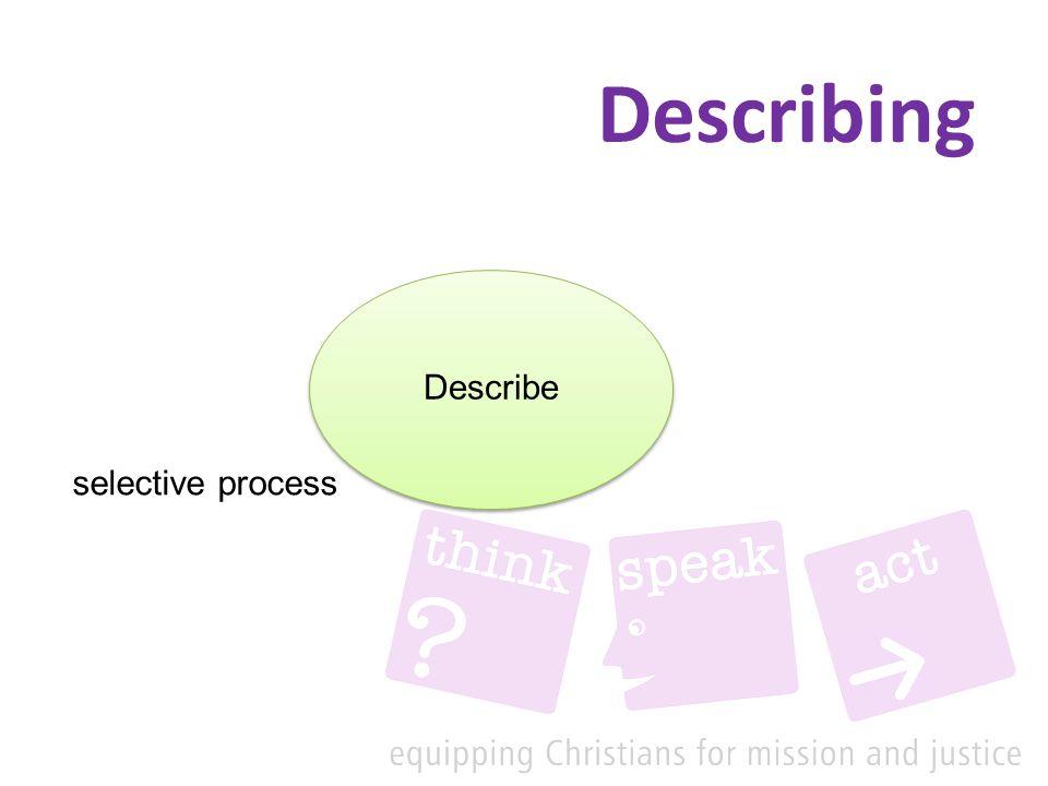 Describing Describe selective process