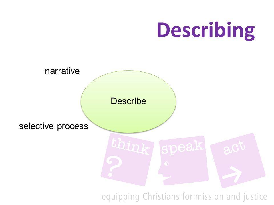 Describing Describe narrative selective process