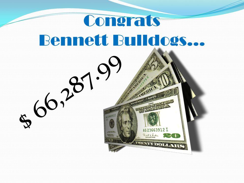 Congrats Bennett Bulldogs… $ 66,287.99
