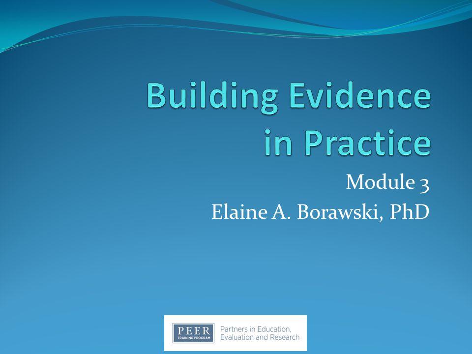 Module 3 Elaine A. Borawski, PhD