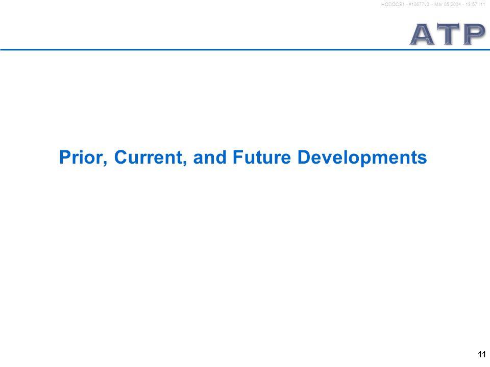 11 HODOCS1 - #10677v3 - Mar 05 2004 - 13:57 /11 Prior, Current, and Future Developments