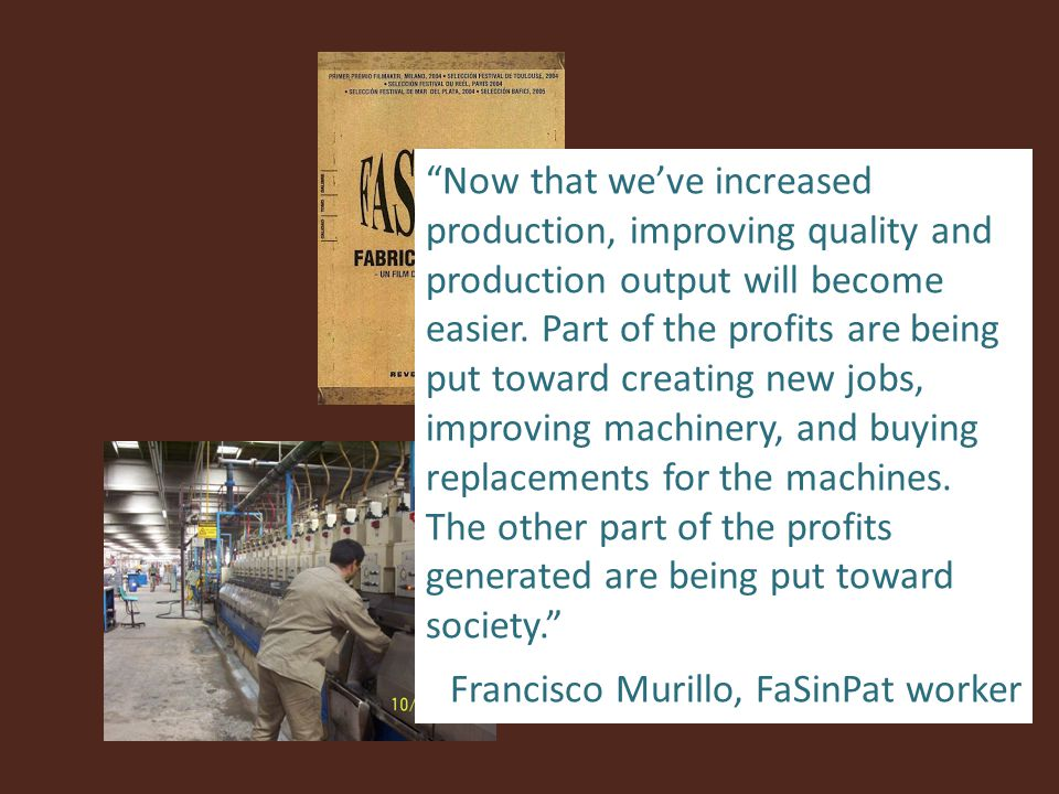 Now that we've increased production, improving quality and production output will become easier.