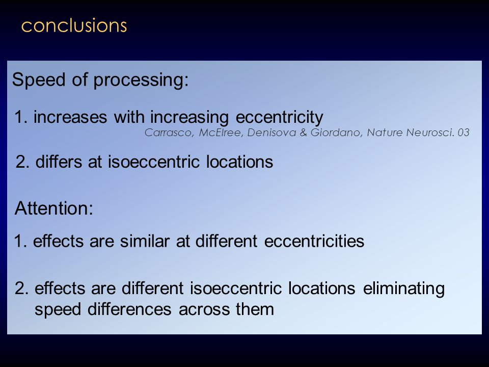 2. differs at isoeccentric locations 2.