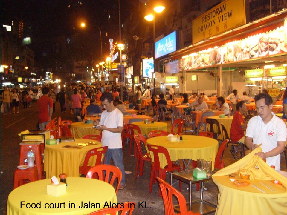 Food court in Jalan Alors in KL.