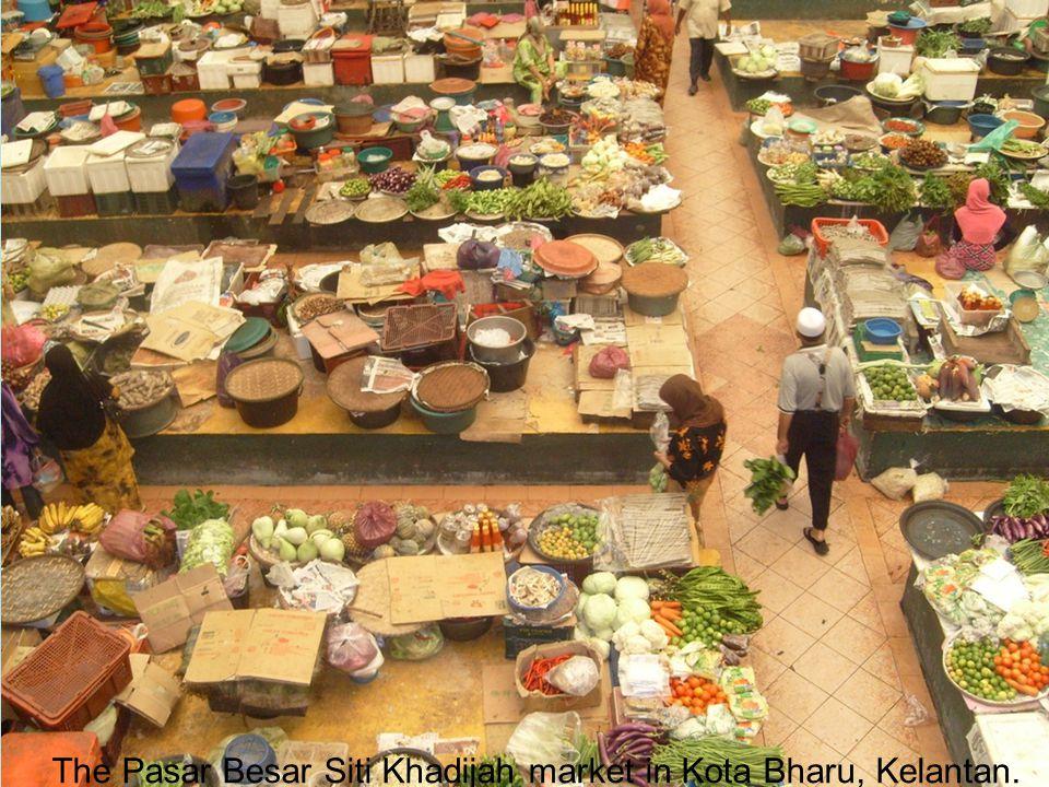 The Pasar Besar Siti Khadijah market in Kota Bharu, Kelantan.