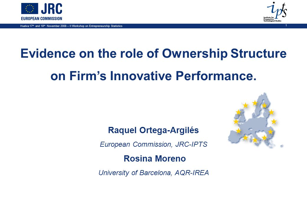 Huelva 17 th and 18 th November 2008 – II Workshop on Entrepreneurship Statistics 2 A company's ability to innovate depends on a series of factors: –The environment in which the firm is operating: determinants of the market and location where the firm operates.