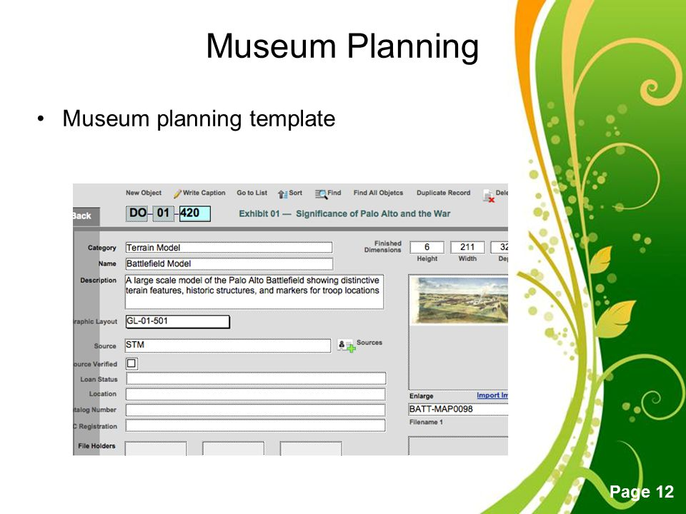 Free Powerpoint Templates Page 12 Museum Planning Museum planning template