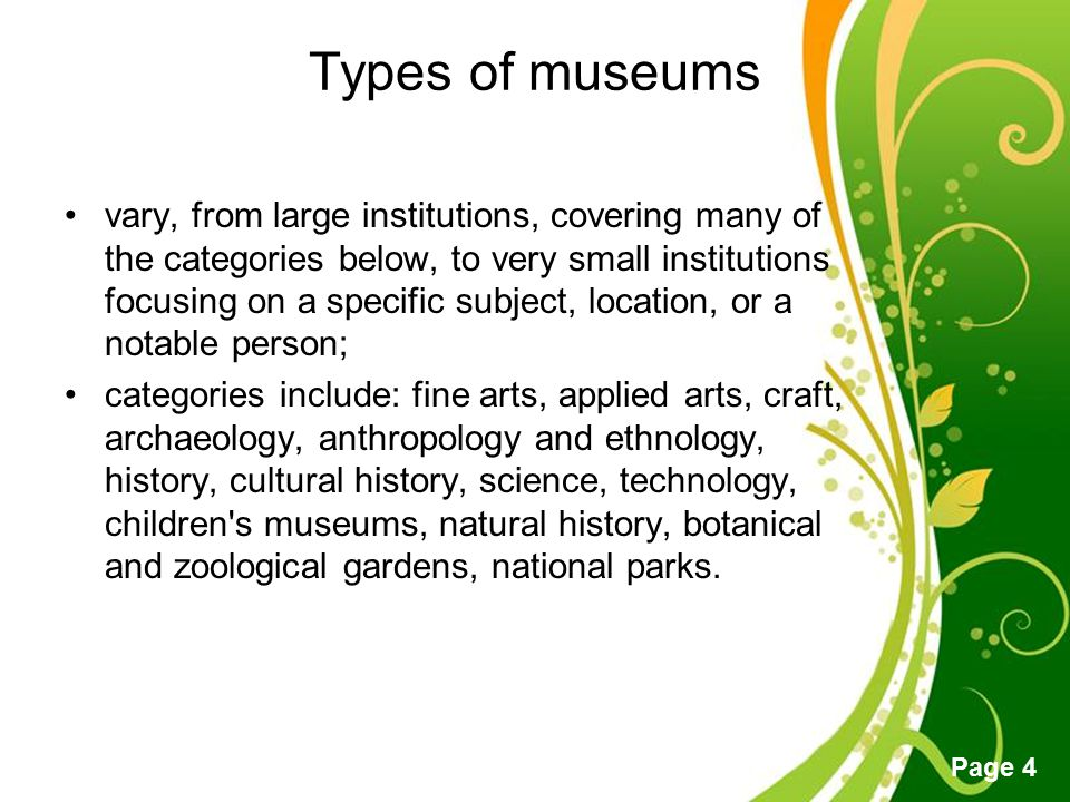 Free Powerpoint Templates Page 5 Museum as an Enterprise Functions –Researching –Collecting –Preserving –Disseminating information –Educating