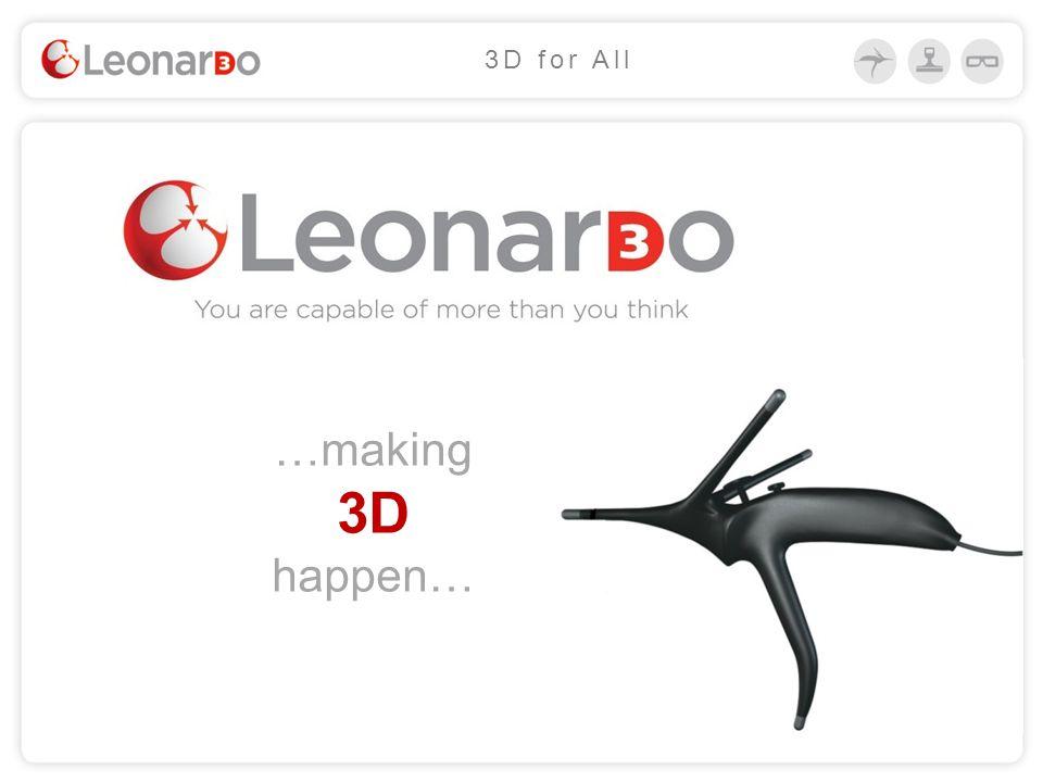…making 3D happen… 3D for All