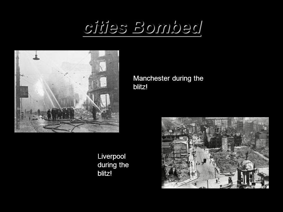 More bombed cities Birmingham during the blitz! Cardiff during the war