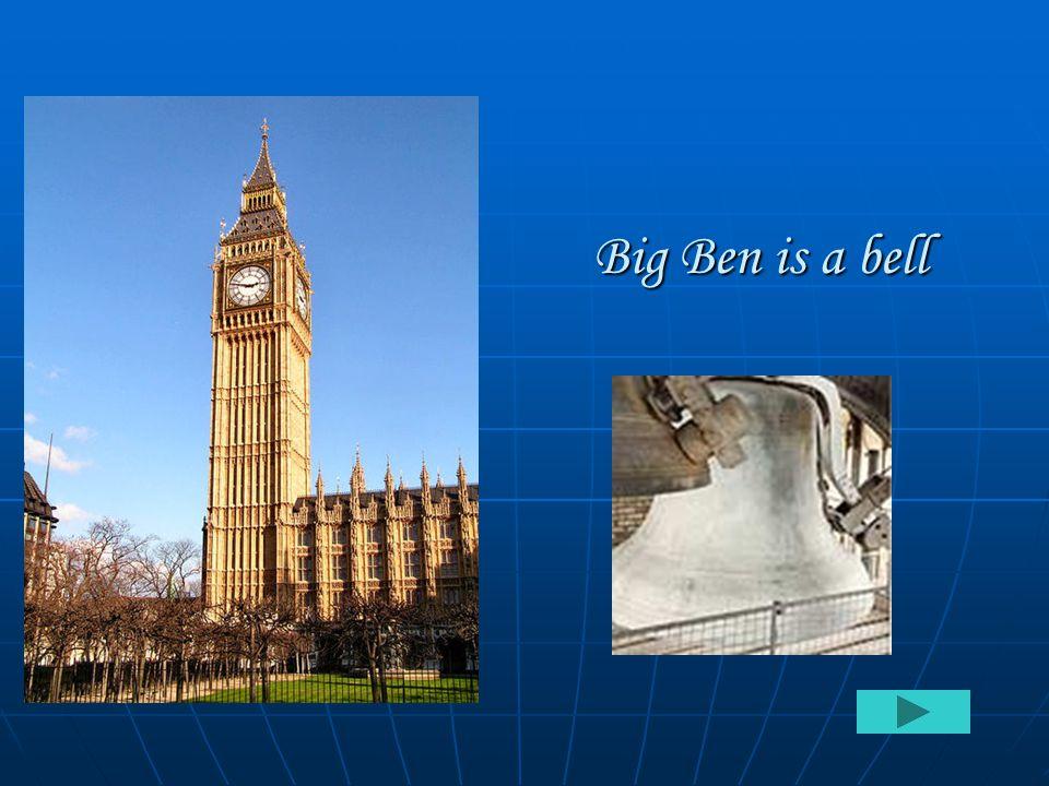 Big Ben is a bell