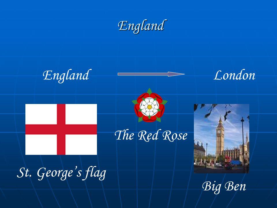 England England EnglandLondon St. George's flag Big Ben The Red Rose