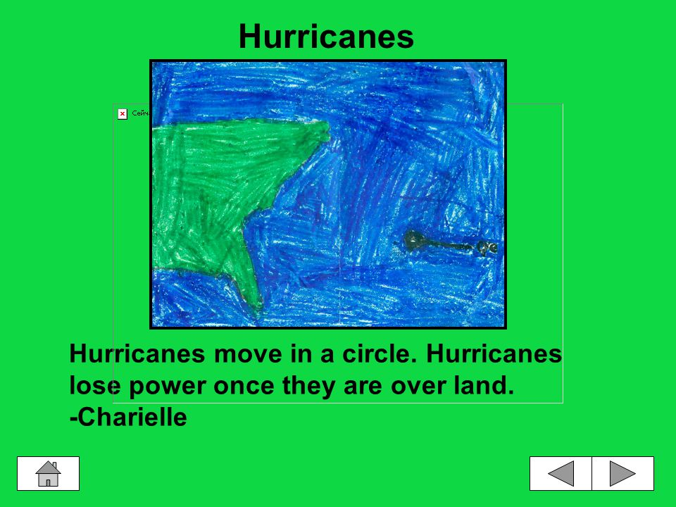 Hurricanes are very big and strong. -Myko Hurricanes