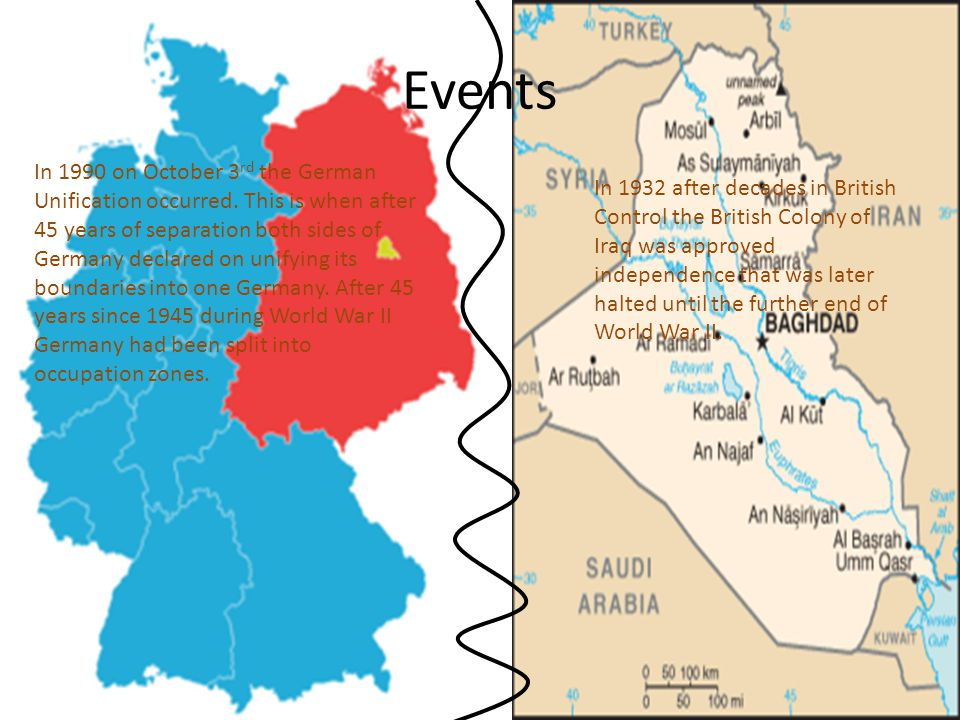 Events In 1990 on October 3 rd the German Unification occurred.