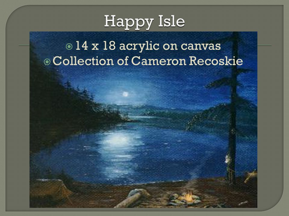  14 x 18 acrylic on canvas  Collection of Cameron Recoskie