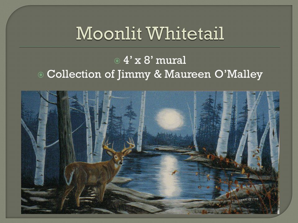  4' x 8' mural  Collection of Jimmy & Maureen O'Malley