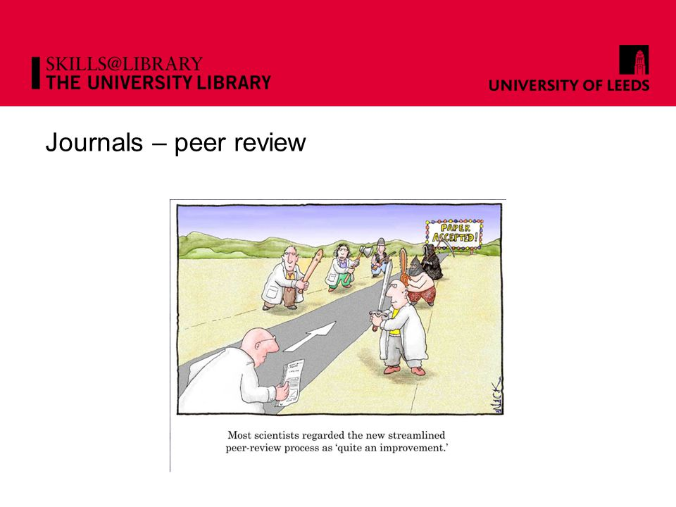 Journals – peer review