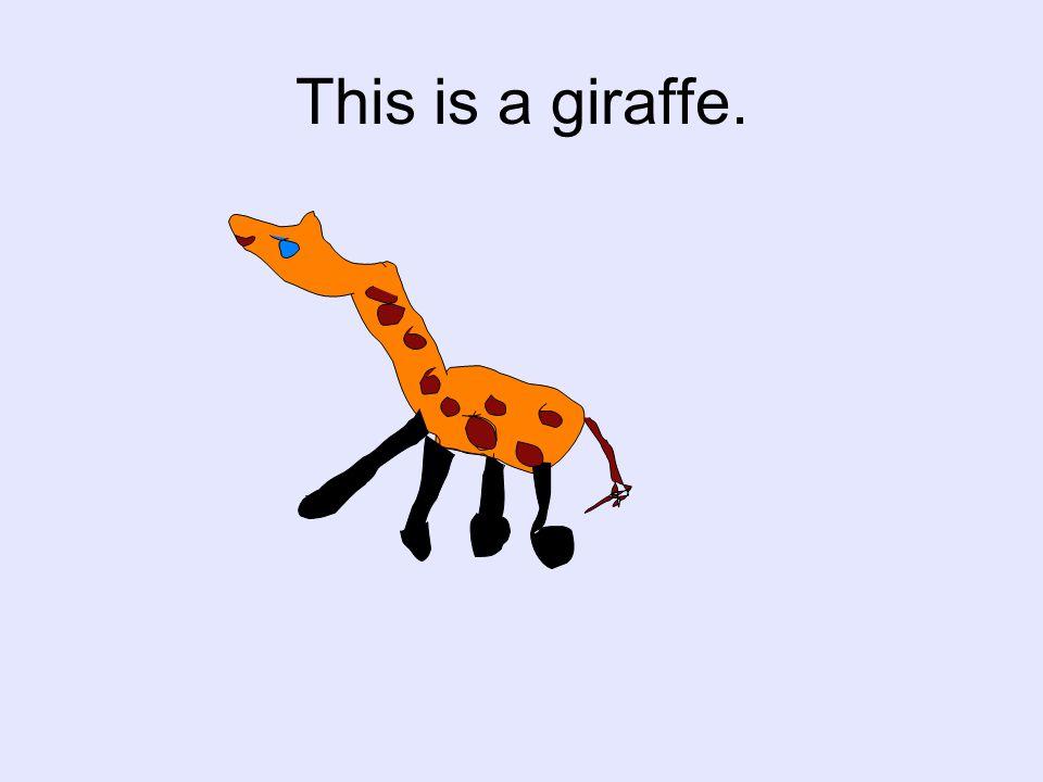 This is a giraffe.