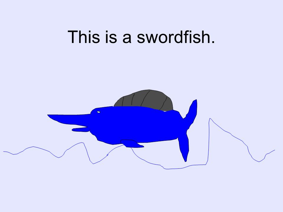 This is a swordfish.