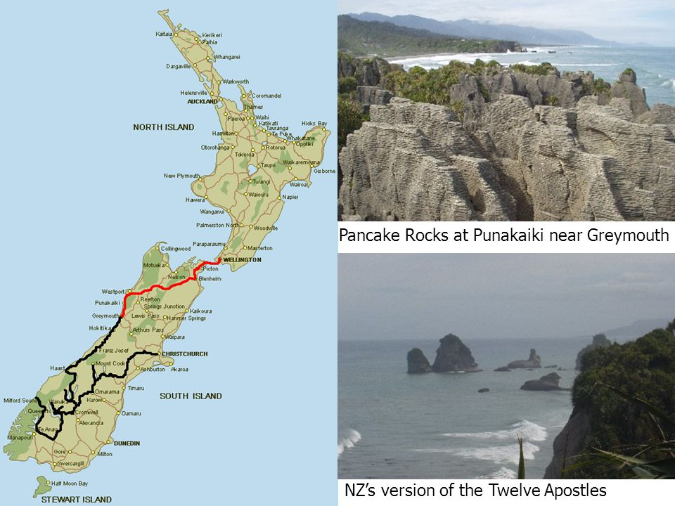 Pancake Rocks at Punakaiki near Greymouth NZ's version of the Twelve Apostles