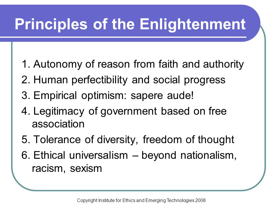 Copyright Institute for Ethics and Emerging Technologies 2008 20 th Century Politics Progressives Conservatives Conservatives Progressives Populists Libertarians New Right Social Democrats Cultural Politics Economic Politics Populists Libertarians New Right Social Democrats