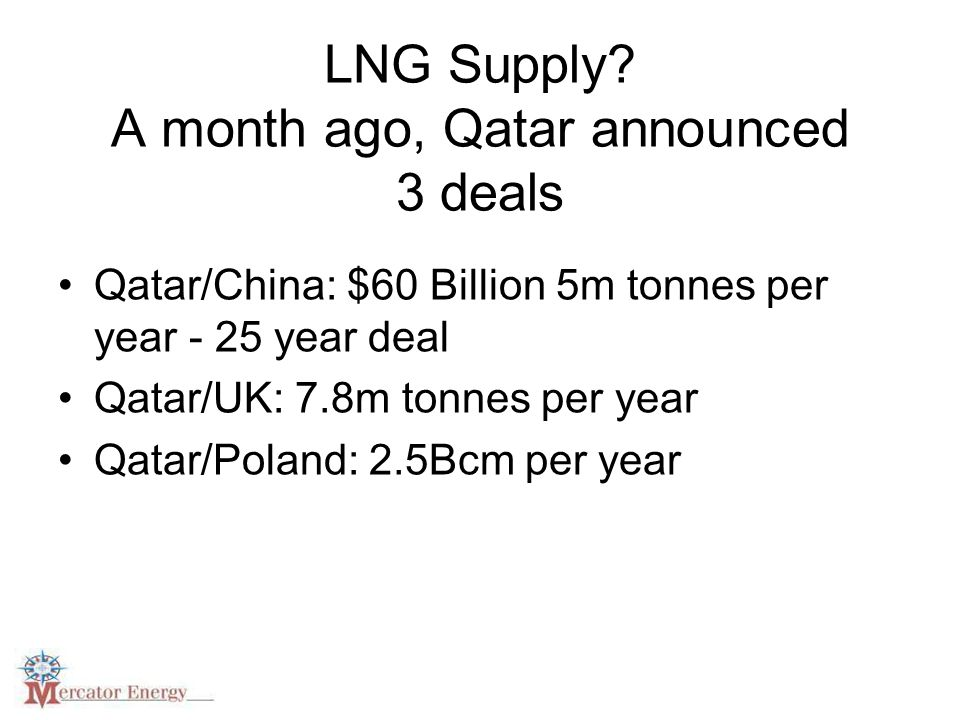 LNG Supply.