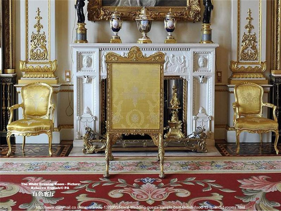 The White Drawing Room with Picture of Queen Alexandra - Picture: Dari http://puzzles-games.eu/puzzle-buckingham-palace-white-drawing-room-painting-of-queen-alexandra-london-england-1721.html 白色客厅里的亚历山德拉皇后画像