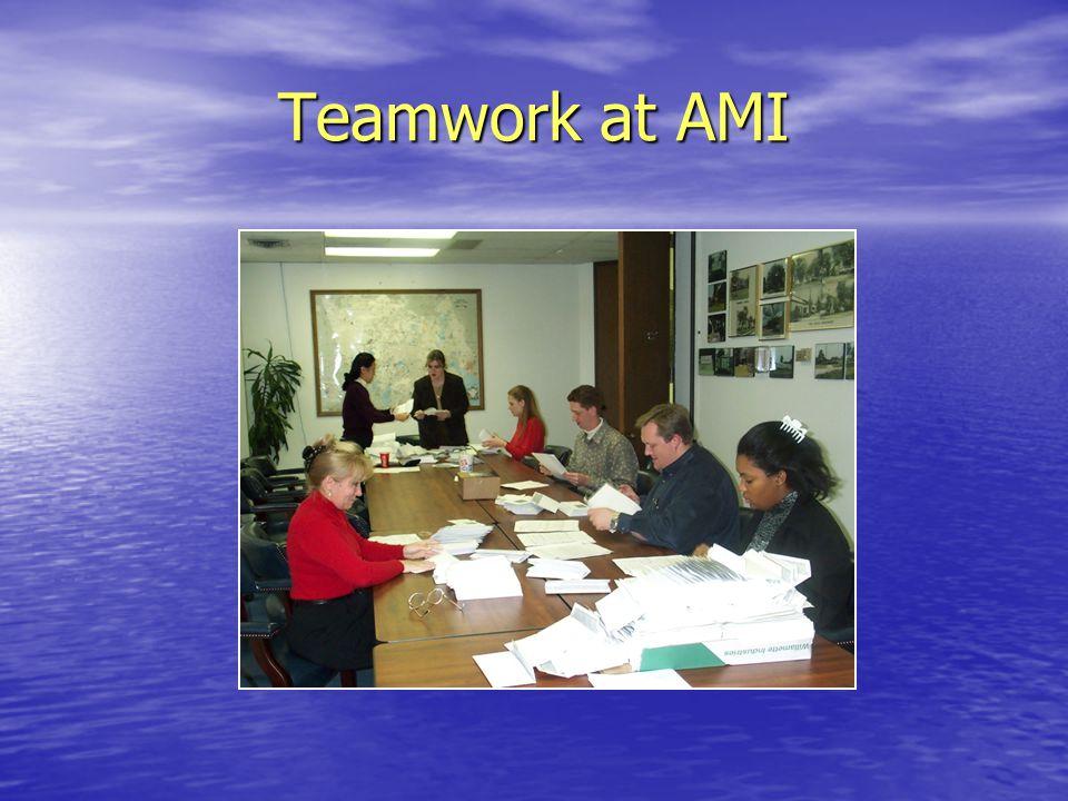Teamwork at AMI