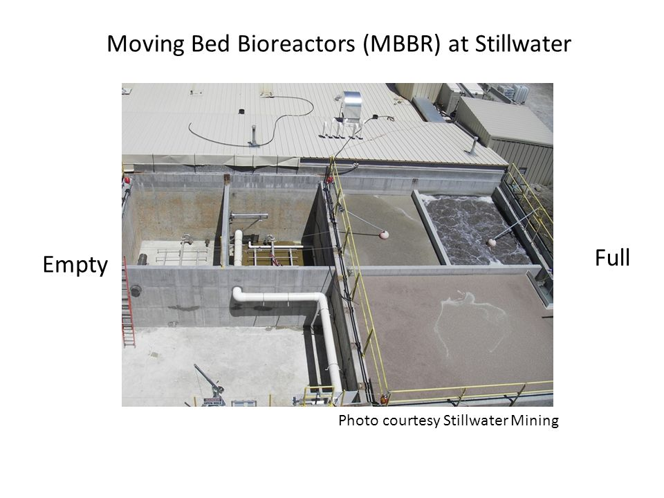 Moving Bed Bioreactors (MBBR) at Stillwater Empty Full Photo courtesy Stillwater Mining