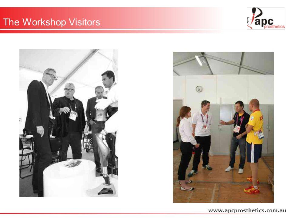 The Workshop Visitors www.apcprosthetics.com.au