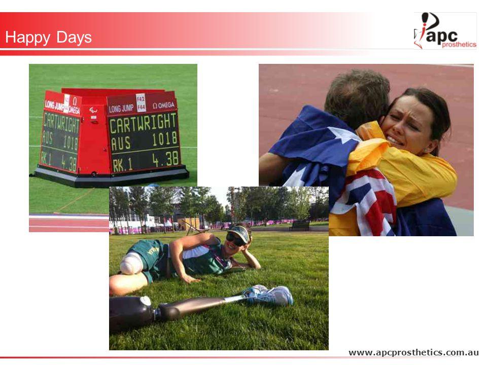 Happy Days www.apcprosthetics.com.au