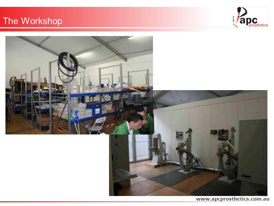 The Workshop www.apcprosthetics.com.au