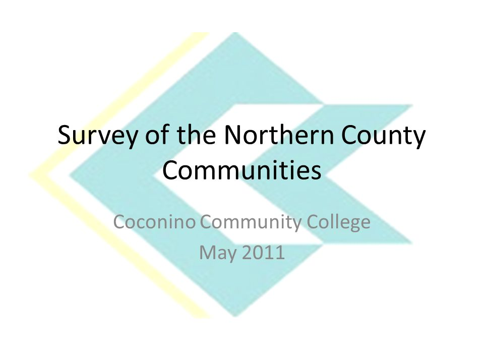 Survey Results What do you think of when you hear the words Coconino Community College Top four responses where- 1.